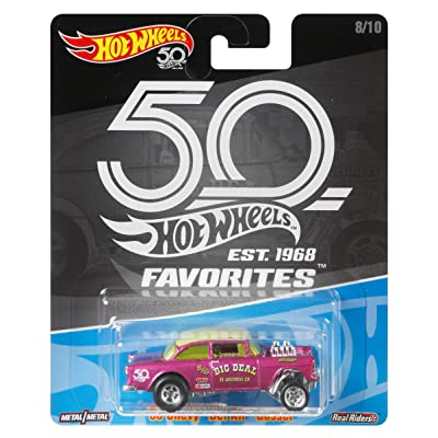 Hot Wheels 50th Anniversary Favs 55 Chevy Bel Air: Toys & Games
