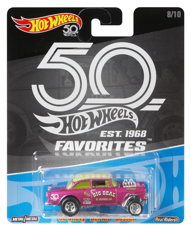 Hot Wheels 50th Anniversary Favs 55 Chevy Bel Air Mattel FLF43