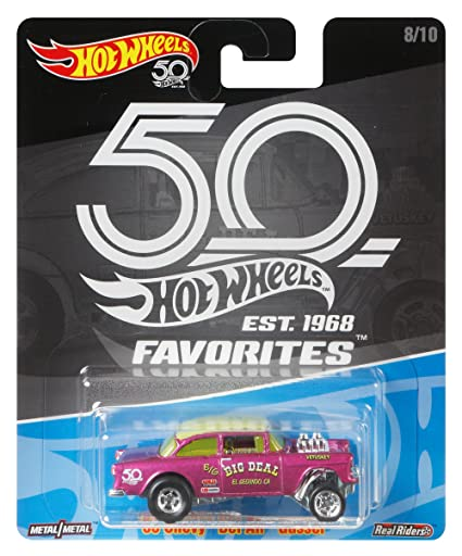 Amazon Hot Wheels 50th Anniversary Favs 55 Chevy Bel Air Toys
