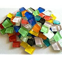 Sai Mosaic Art Pre-Cut Glass Mosaics Multicolour 1 Kg Economy Pack