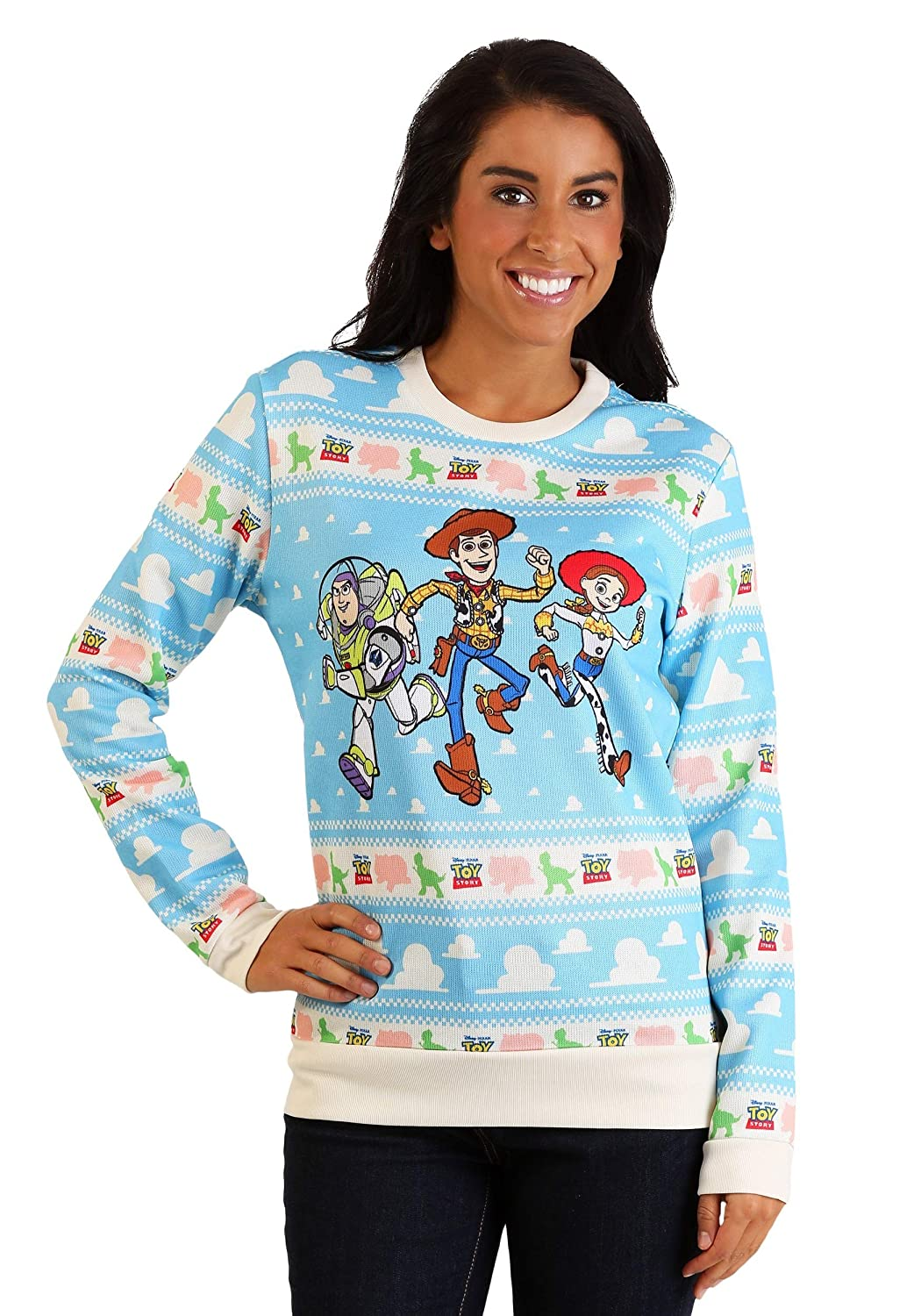 Toy Story Light Blue Ugly Christmas Sweater for Adults 3X