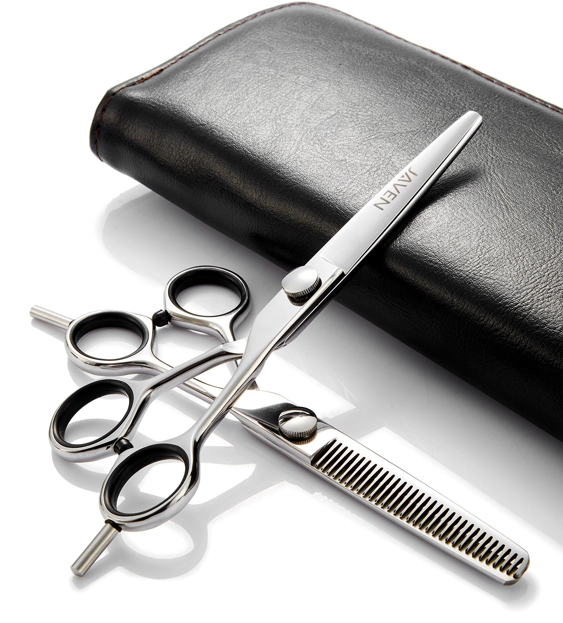 2018 Professional Hair Cutting Scissors Set,Japanese 6.5 Inch Hair Scissors Teflon Shears Hairdressing Scissors Barber Thinning Scissors Hairdresser Razor Edge Haircut Right hand use