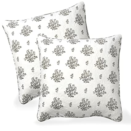 Amazon DriftAway Rina Floral Vintageinspired Reversible Simple Decorative Euro Pillow Shams