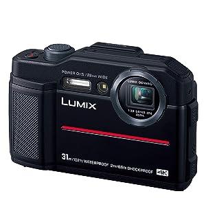 Panasonic コンパクトデジタルカメラ ルミックス FT7 防水 4K動画対応 ブラック DC-FT7-K