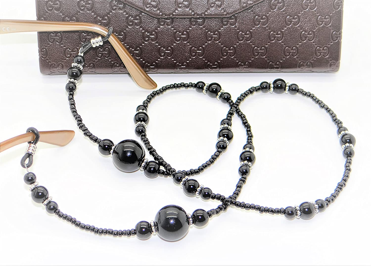 Glasses Retainer Cord Neckless Strap Large Pearls Beads Design -UK 2 Colours