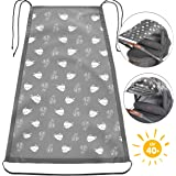 Zamboo Universal Baby Sunshade for Pram, Pushchair, Buggy and Carrycot | Stroller Sun Sail with UV Protection 40+ and up and down slide function - Sheep Pattern