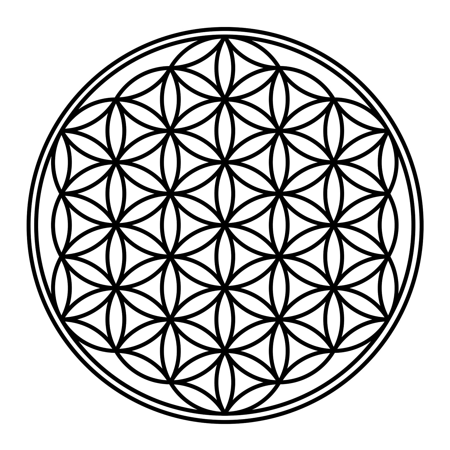 PPS. Imaging Glas-Decor Flower of Life, Farbe  Frosted; Maße  90 cm x 90 cm