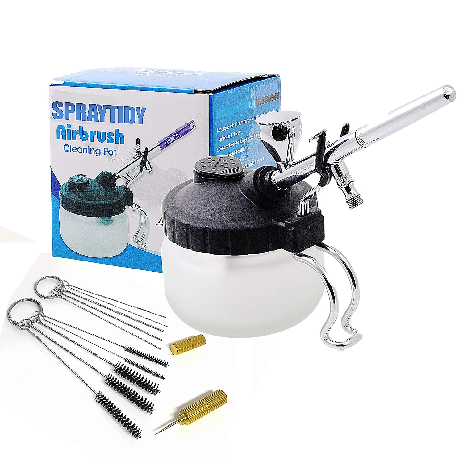 4df584e79086 Spraytidy Professional 3 in 1 Airbrush Cleaning Station | Full kit with  Accessories & Free cleaner Brushes | Perfect for Tamiya & Airfix models &  ...