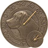 Whitehall Products Labrador Thermometer Clock, French Bronze