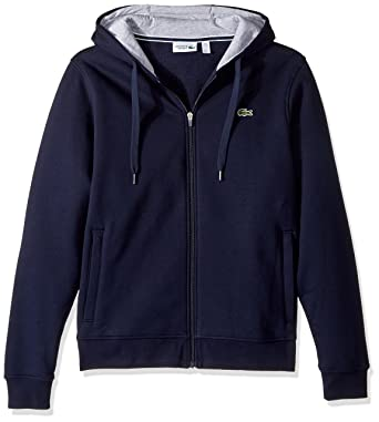f8743f7b9a3caf Lacoste Mens Sport Full Zip Hoodie Fleece Sweatshirt  Amazon.ca ...