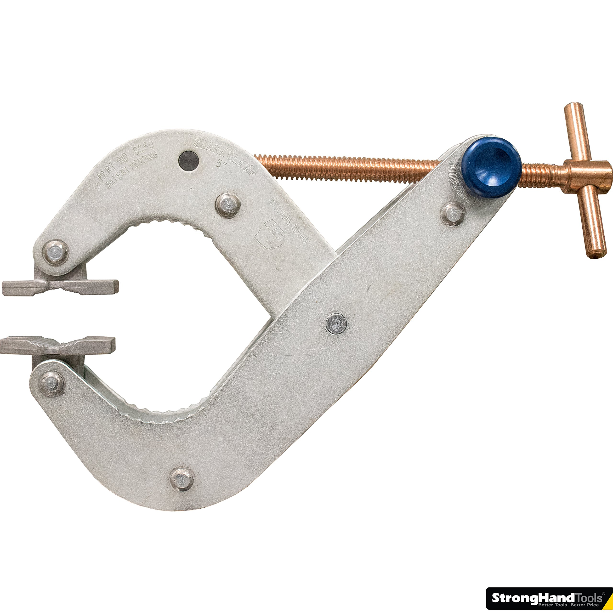 Strong Hand Tools, Shark Clamp, T-Handle, 5'' Capacity, 1,000 Lbs Pressure, SC50 by Strong Hand Tools