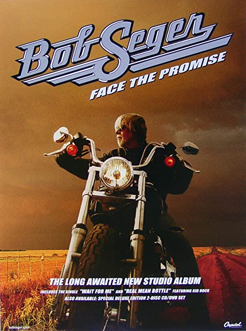 BOB SEGER AGAINST THE WIND ALBUM COVER POSTER 24 X 24 Inches LOOKS GREAT!
