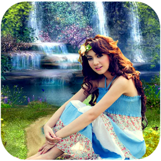 Amazon Com Waterfall Hd Photo Background Frame Editor