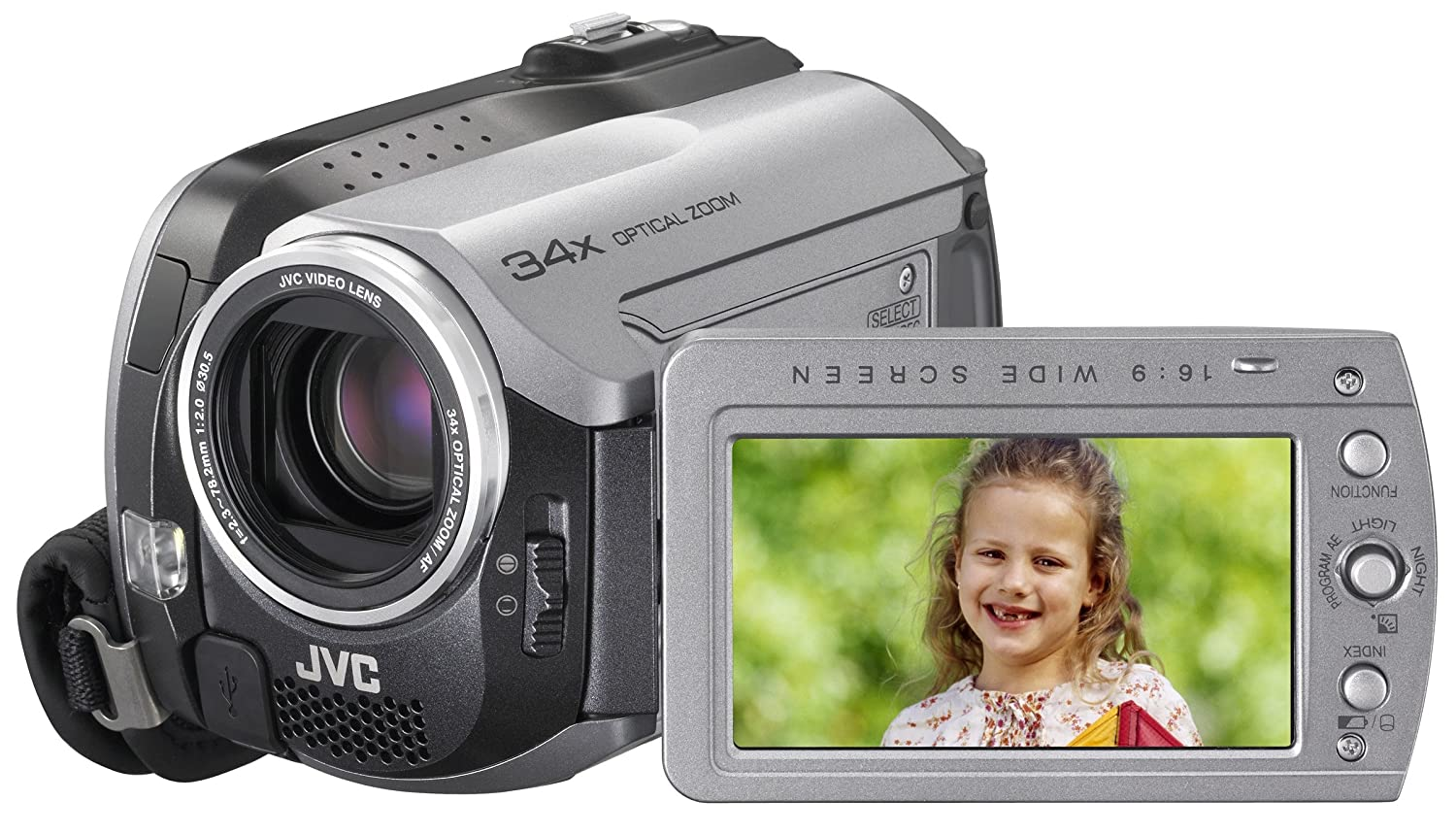 Amazon.com : JVC Everio GZMG130 30GB Hard Disk Drive Camcorder with 34x  Optical Zoom (Discontinued by Manufacturer) : Camera & Photo