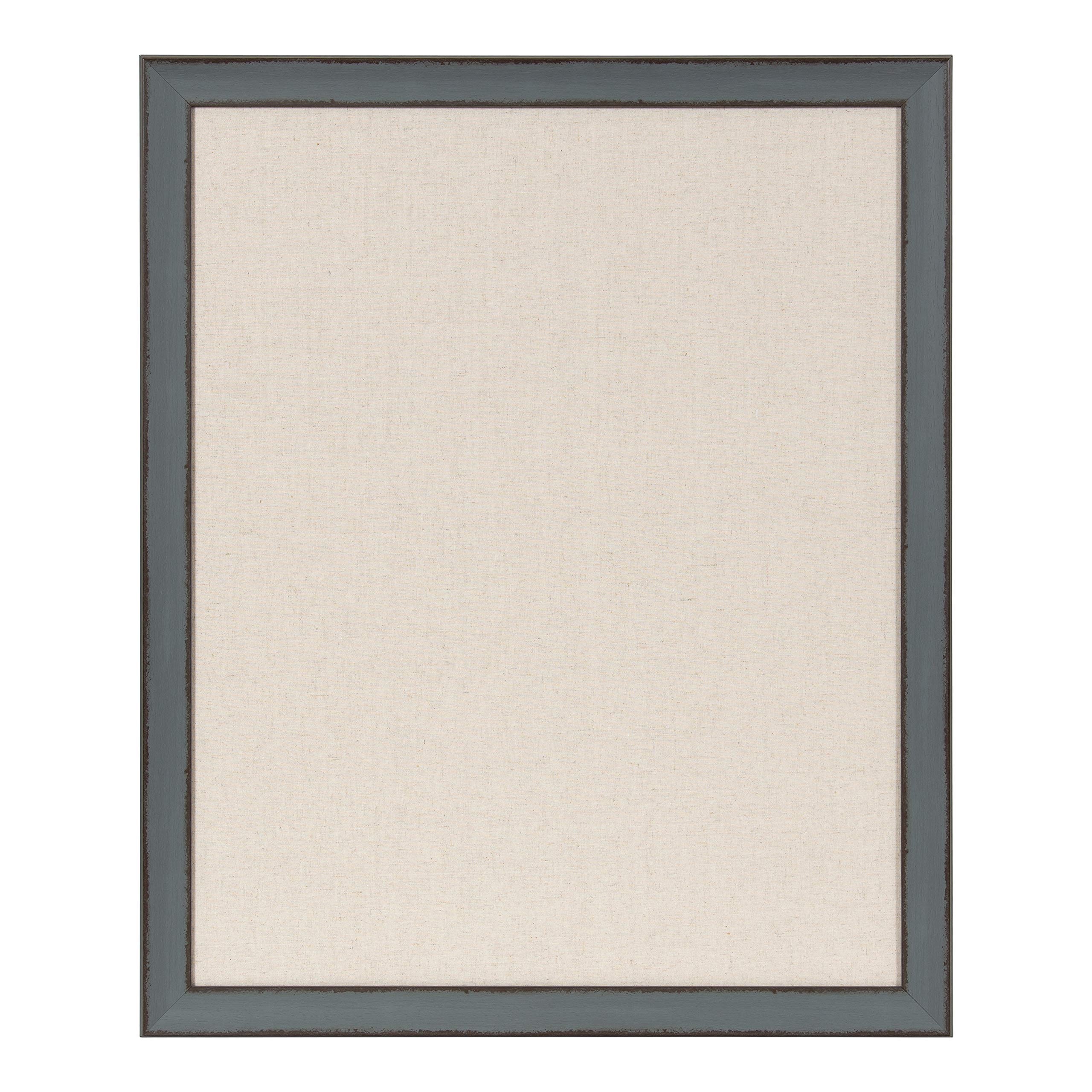 Kate and Laurel Kenwick Framed Linen Fabric Pinboard, 27x33, Gray Green by Kate and Laurel