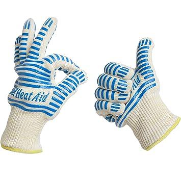Amazon.com : Grill Heat Aid, Heat Resistant Gloves, 932°F EN407 ...