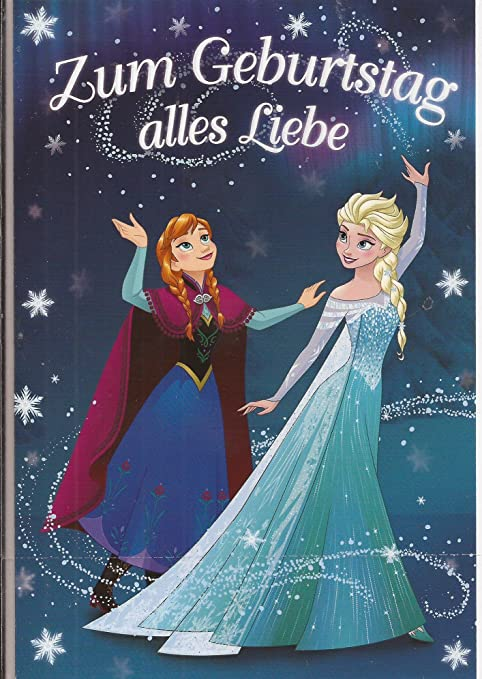 Geburtstagskarte Disney Frozen Die Eiskonigin Amazon De