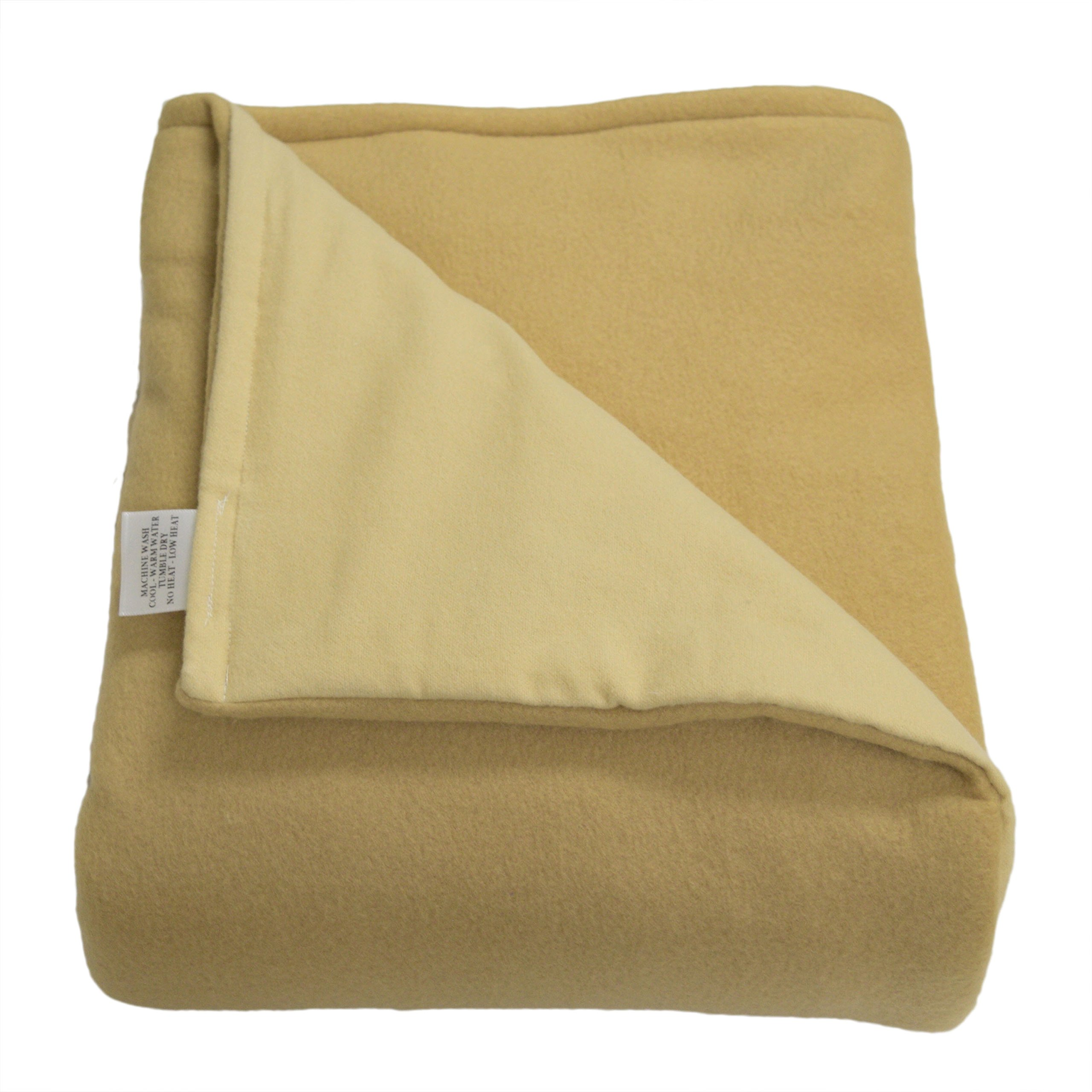 SENSORY GOODS Child Small Weighted Blanket MADE IN AMERICA- 4lb Low Pressure - Tan - Fleece/Flannel (30'' x 48'') Our Weighted Blankets provide Comfort and Relaxation.