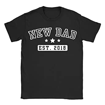 d860ed40 New Dad T-Shirt Daddy Birth Fathers Personalised Funny Present Gift Birthday:  Amazon.co.uk: Clothing