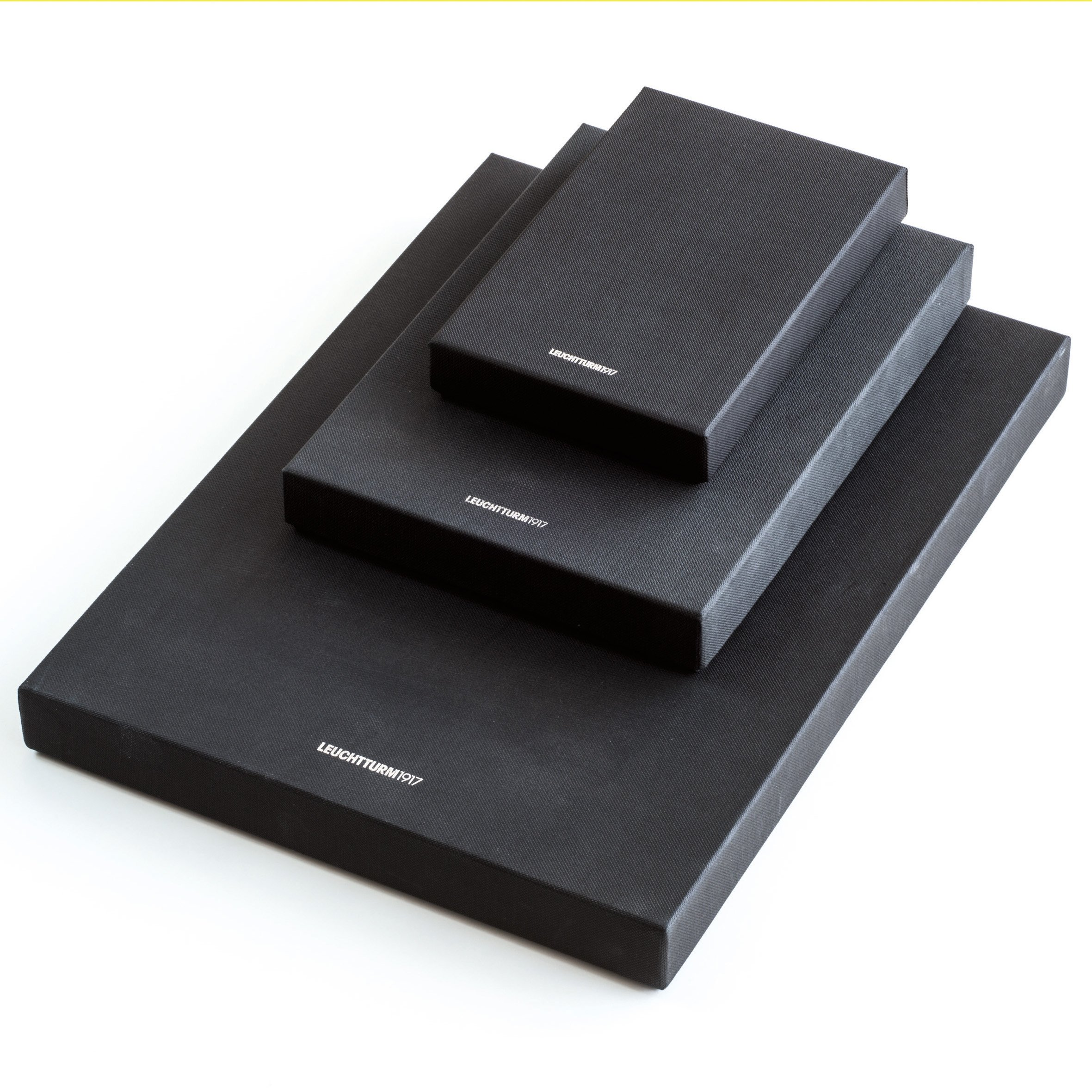 Leuchtturm1917 A4 Plus Master Genuine Leather Lined Notebook - Black