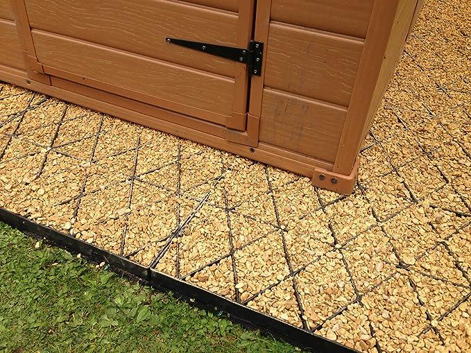GREENHOUSE FLOOR GRID BASE MEMBRANE KIT PLASTIC SLABS SHED /& LOG CABIN BASE sm
