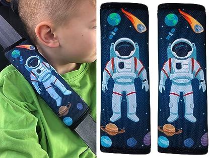 Space Astronaut Protezione Copricintura per Auto Morbido e Confortevole Lavabile in Lavatrice HECKBO/® Cuscino per Cintura di Sicurezza con Astronauta nello Spazio Alta Qualit/à