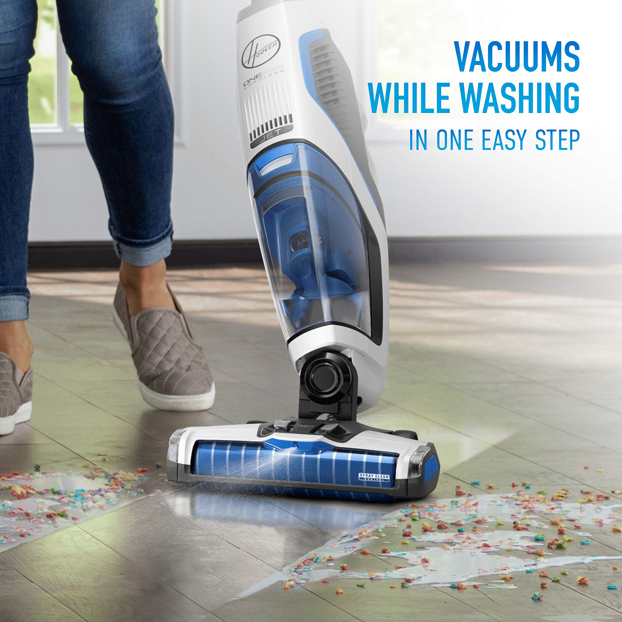Hoover ONEPWR Cordless FloorMate Jet Hard Floor Cleaner, Wet Vacuum, BH55210, White by Hoover (Image #1)