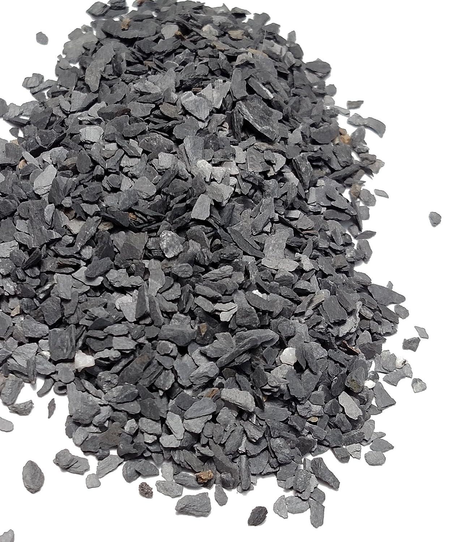 Natural Slate Stone - Less than 1/8 inch Slate Gravel for Miniature or Fairy Garden, Aquarium, Model Railroad & Wargaming 8oz