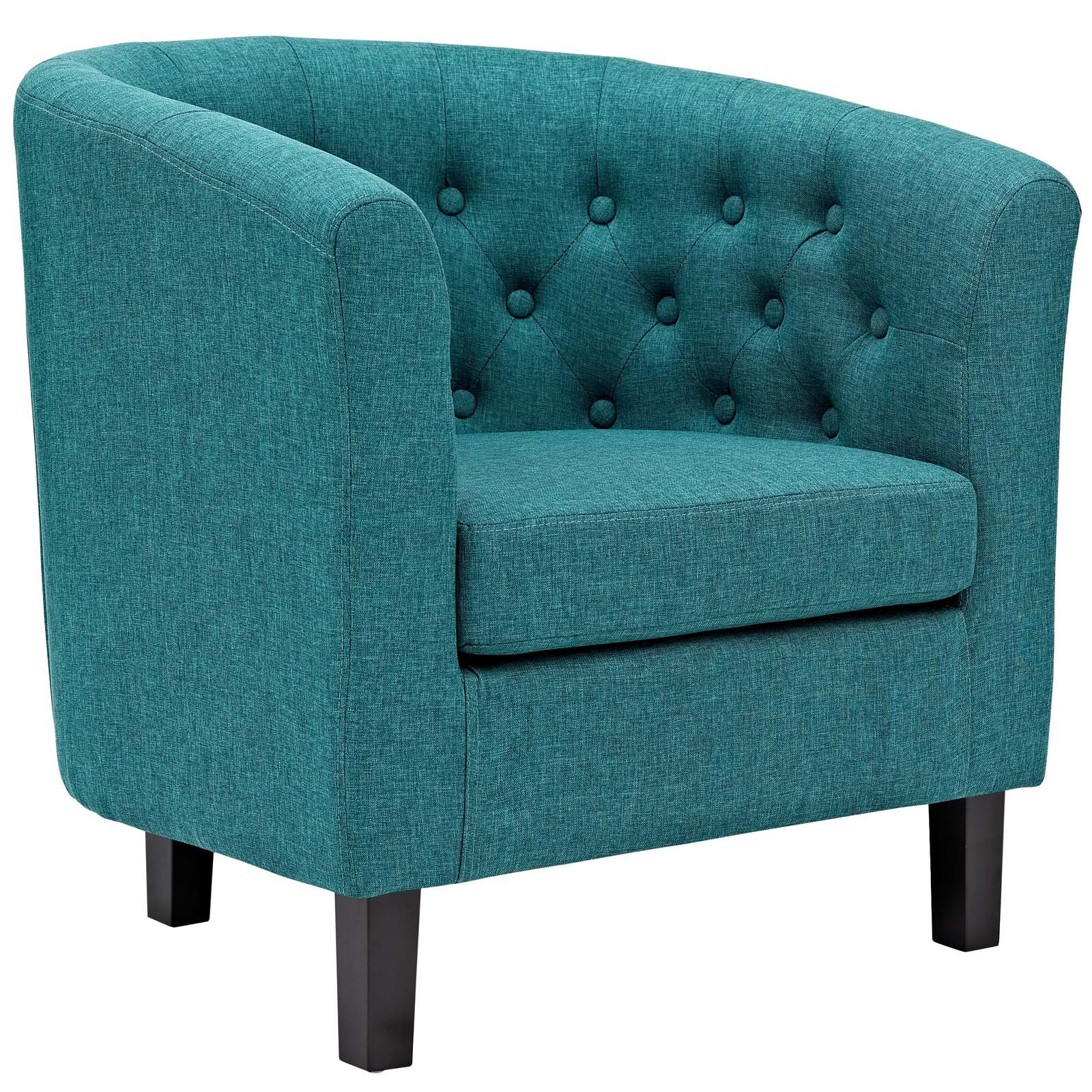 Modway eei 2551 tea prospect upholstered fabric contemporary modern accent arm chair teal