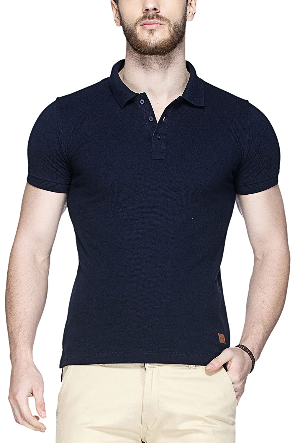 Tinted Men's Solid Polo Half Sleeve T-Shirt