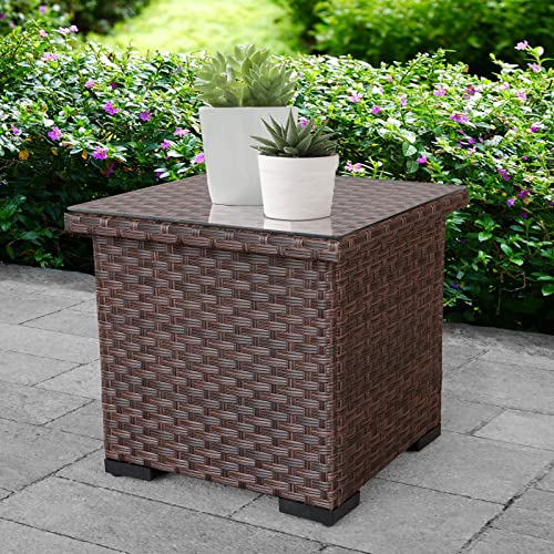 Outdoor PE Wicker Side Table