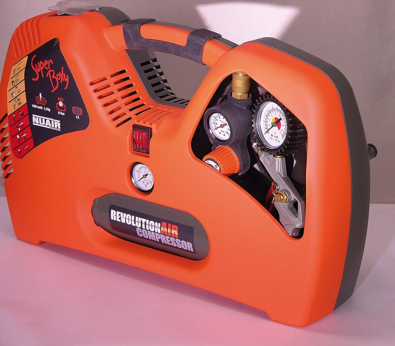 RevolutionAIR 8215240 Compresor de Aire 230 V, multicolor Superboxy: Amazon.es: Bricolaje y herramientas