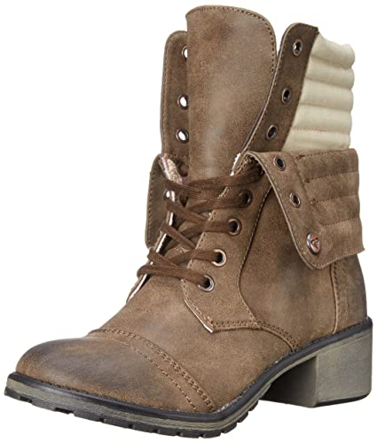 056dfb55d6 Roxy Women's Charley Boots Combat Boot, Brown, 7.5 M US: Buy Online ...