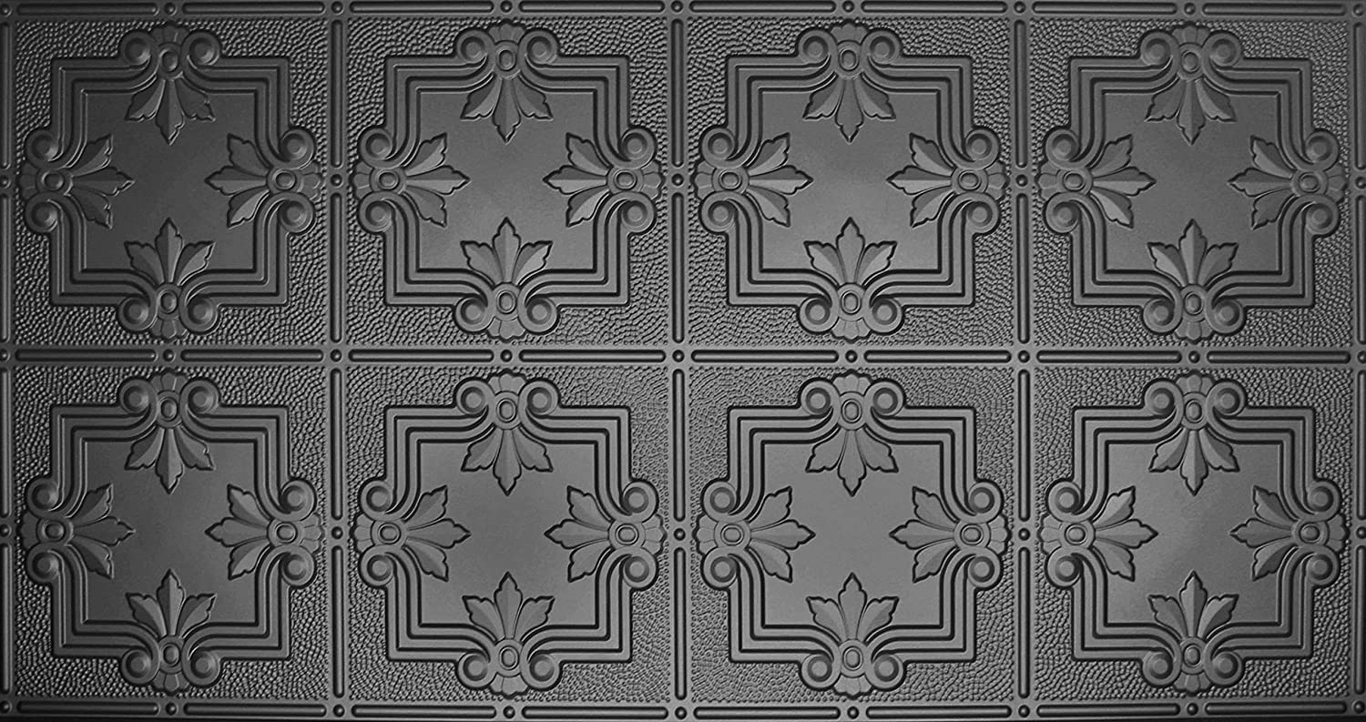 Global Specialty Products Pattern No.321 Tin Style Panel, 2 by 4-Feet, Black 80%OFF