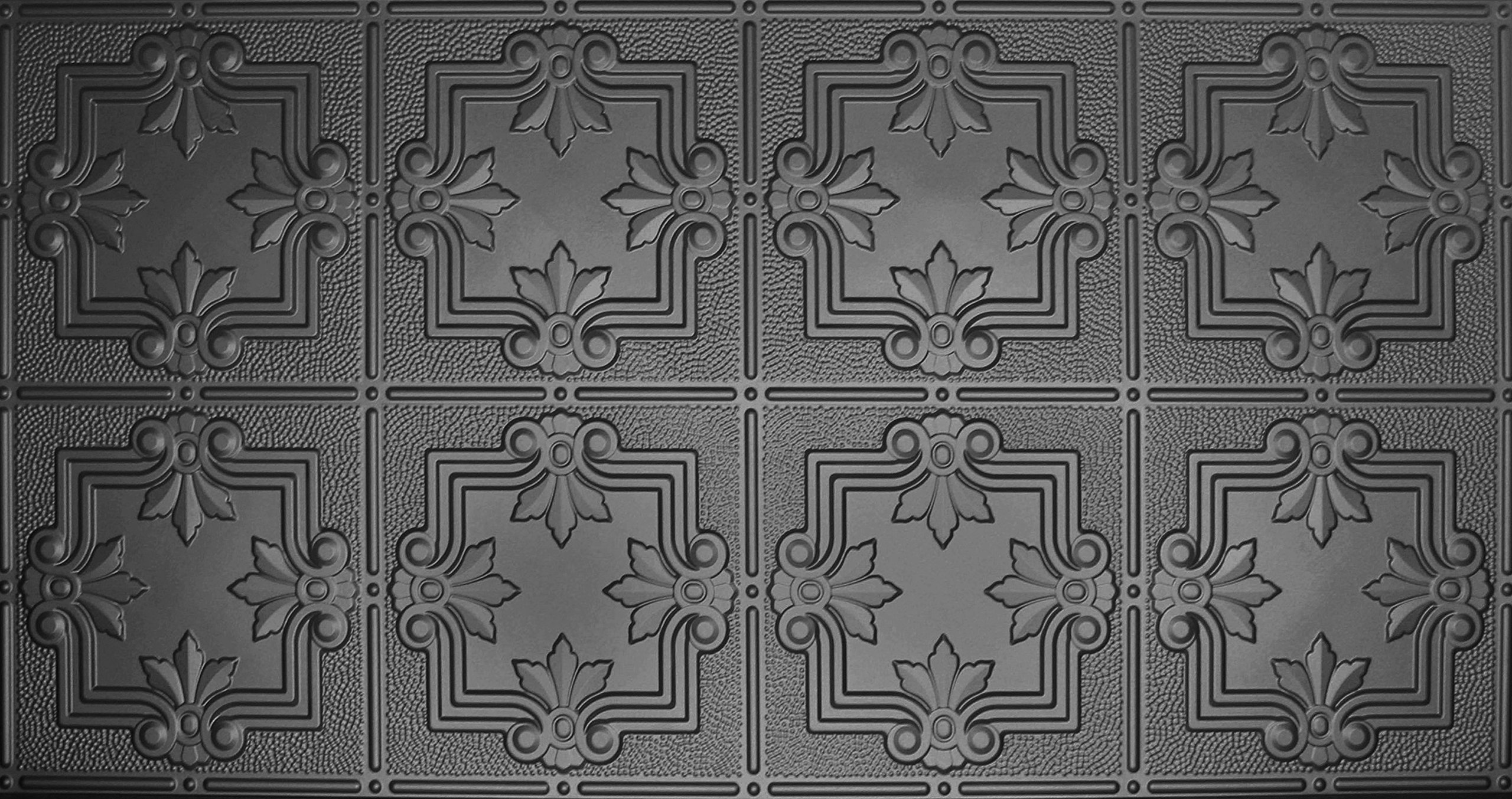 Global Specialty Products Pattern No.321 Tin Style Panel, 2 by 4-Feet, Black