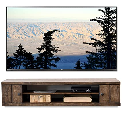 premium selection 8ed73 2f63b Amazon.com: Rustic Barn Wood Style Floating TV Stand ...
