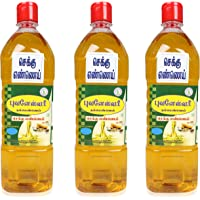Bhuvanaeswari Cold Pressed Gingelly Oil, 1000 ml (Pack of 3)