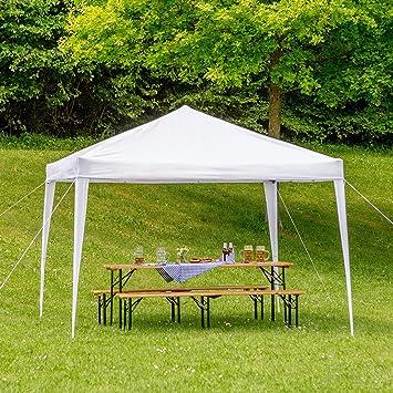 TecTake Gazebo Plegable jardín Fiesta Tienda de campaña Carpa ...