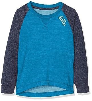 Blue Jewel-Navy Melange Odlo Shirt L//S Revolution TW Warm Kids