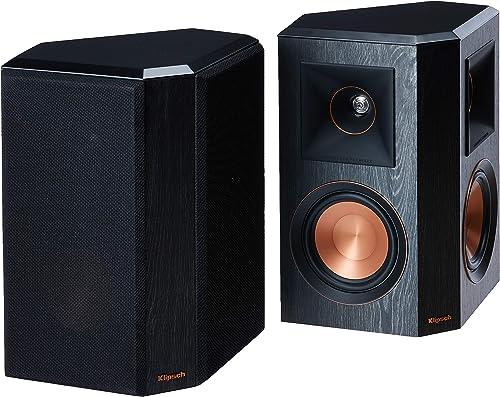 Klipsch RP-502S Surround Sound Speakers Pair Ebony