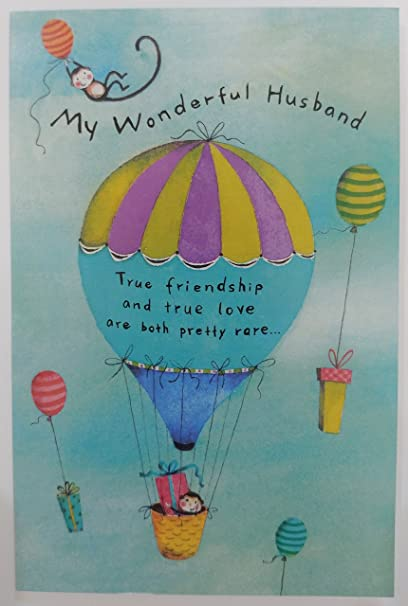 my wonderful husband best friend happy birthday greeting card