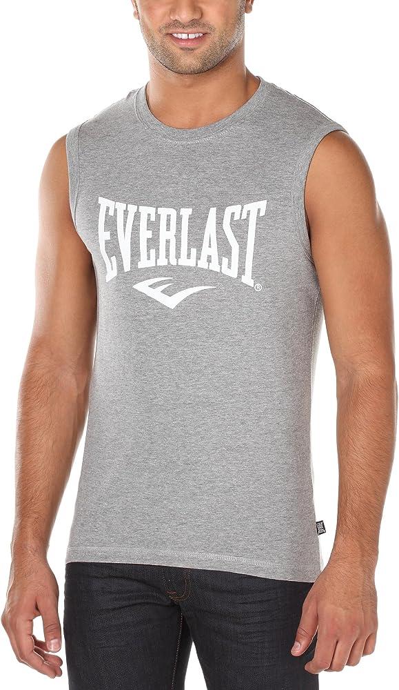 Everlast Laban - Camiseta desmangada para Hombre Gris Gris Talla ...