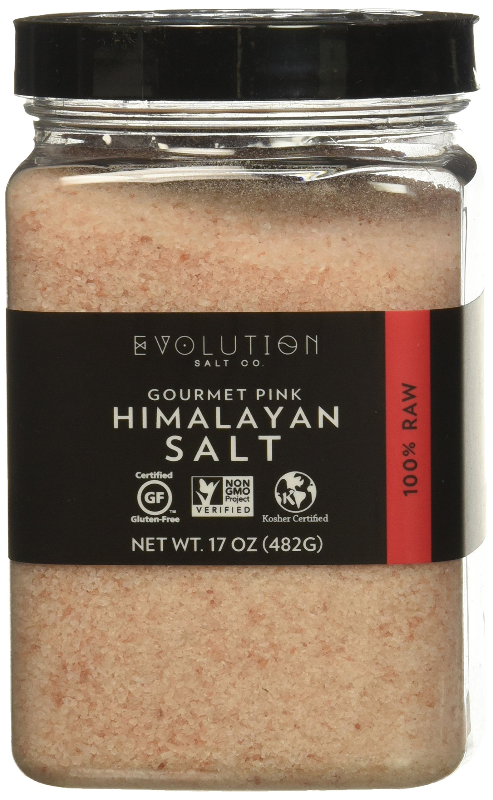 Evoltion Salt Co Gourmet Pink Himalayan Salt, Fine Grind, 16 Ounce (Pack of 6)