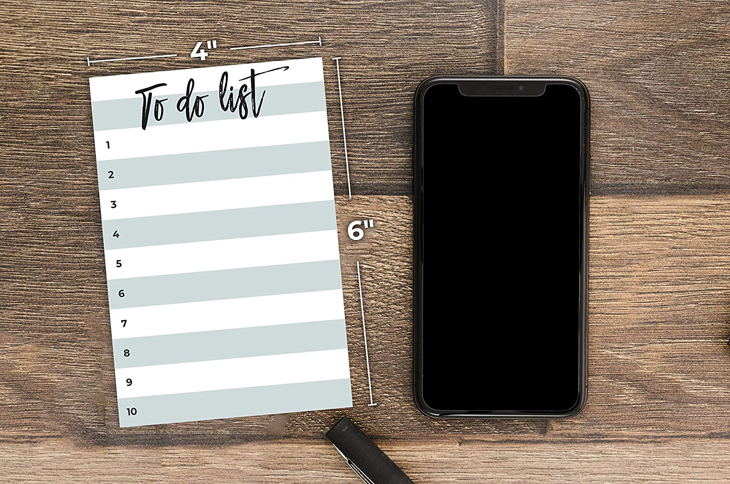 4x6 inches by Daily Ritmo Turquoise Color Lined Paintbrush Font Title to-Do List Notepad Small to-Do Sticky Notes 50 Pages