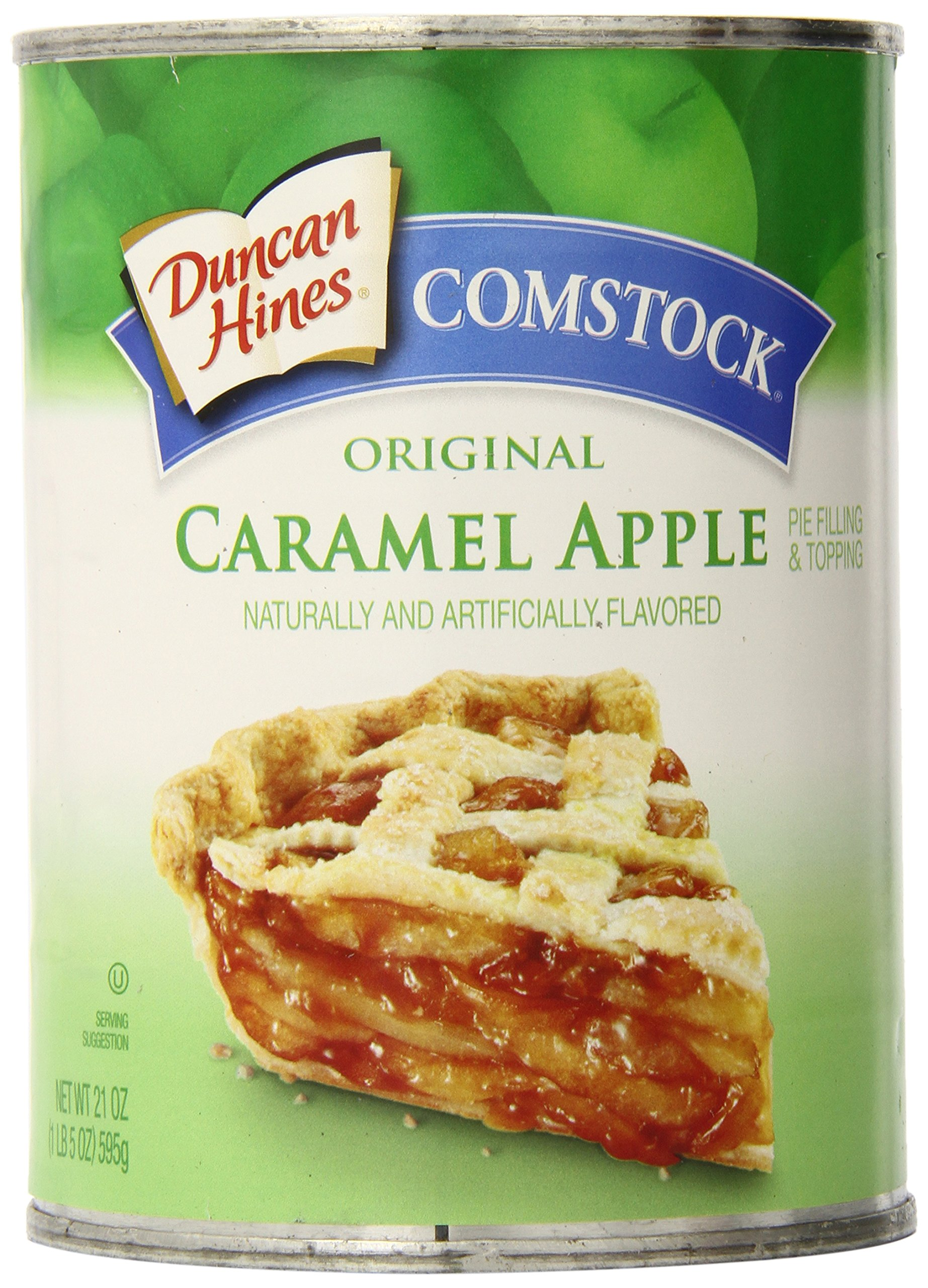 Comstock Original Pie Filling & Topping, Caramel Apple, 21 Ounce (Pack of 12) by Comstock (Image #1)