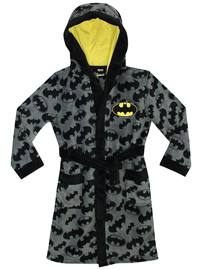 Batman Boys DC Comics Dressing Gown Age 8 to 9 Years: Amazon.co.uk ...