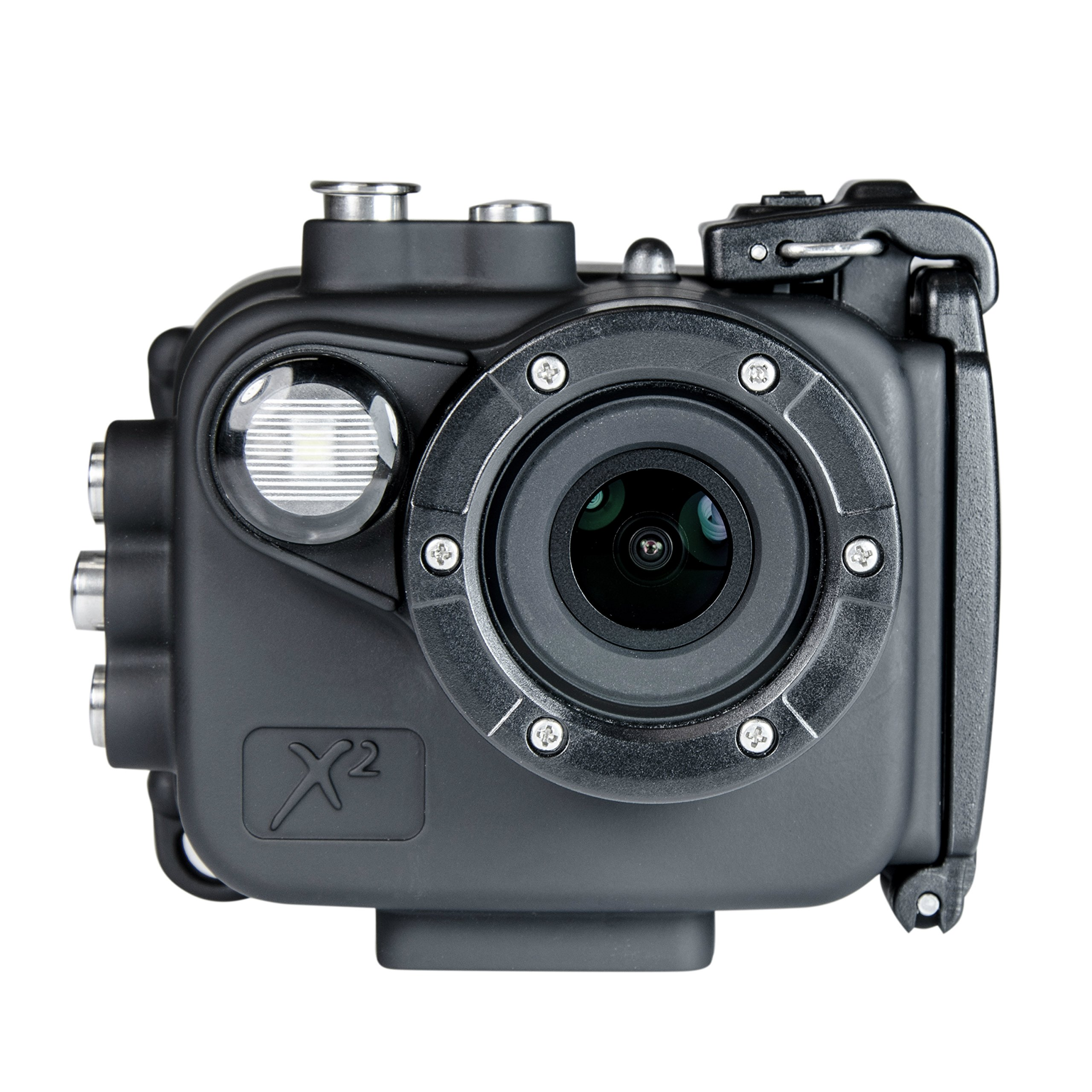Intova X2 Waterproof 16MP Action Camera with Built-in 150-Lumen Light and WiFi by Intova