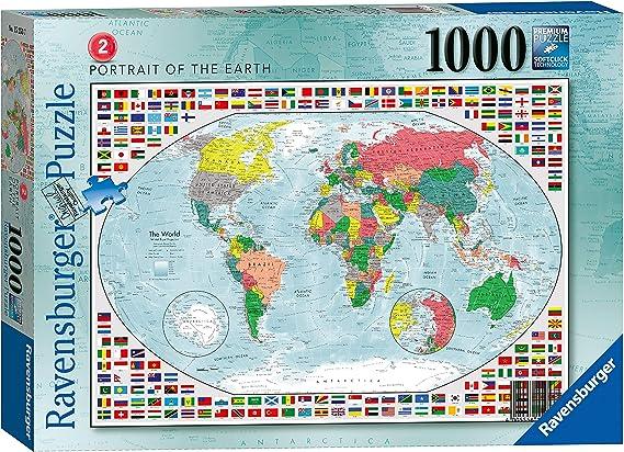 Rompecabezas Ravensburger Portrait of The Earth 2 de 1000 Piezas: Amazon.es: Juguetes y juegos