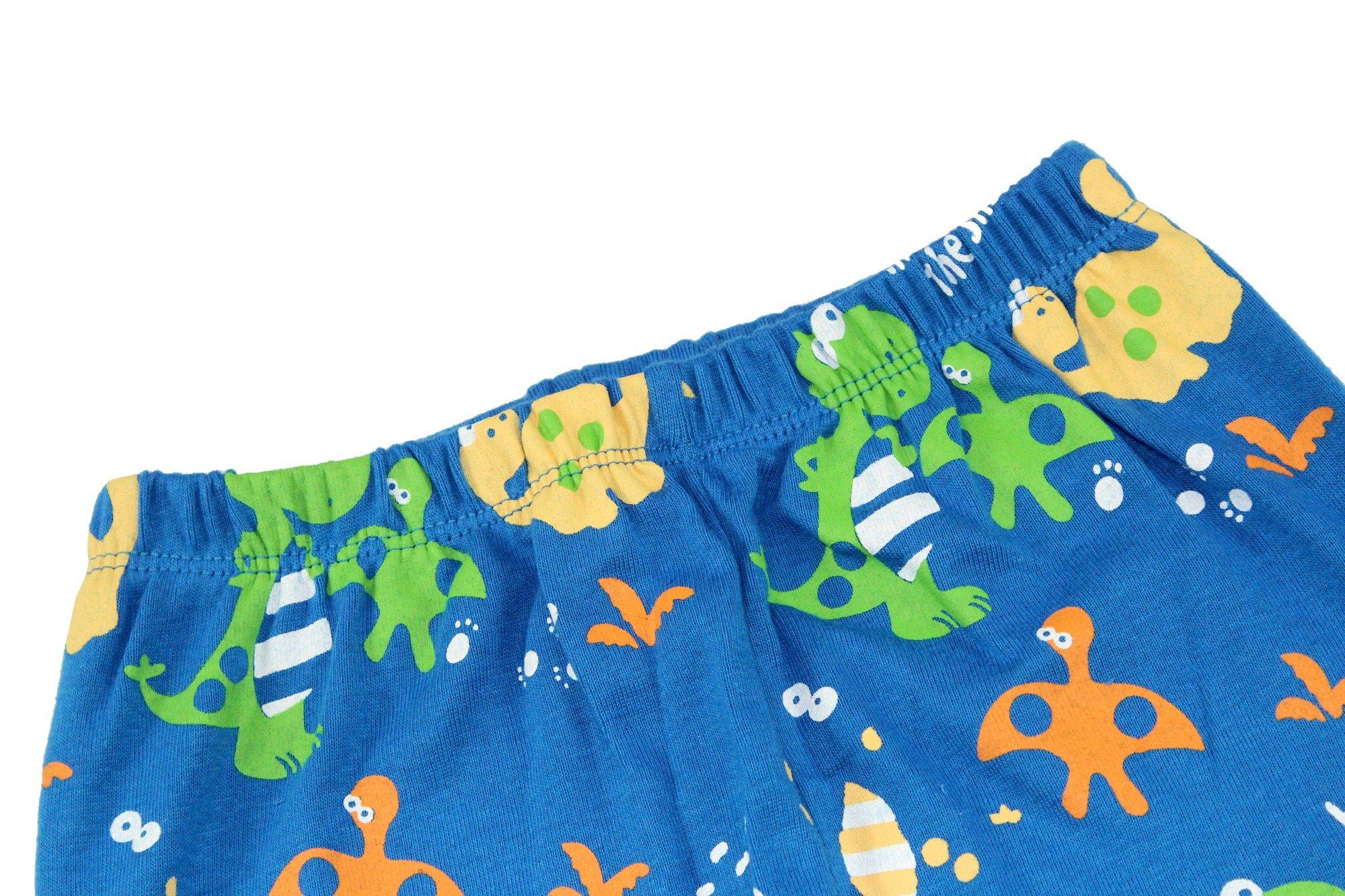 Boys Pajamas Boys Dinosaur Little Kid Shorts Set 100% Cotton Clothes Short Sleeves Sleepwear 8Y by shelry (Image #9)