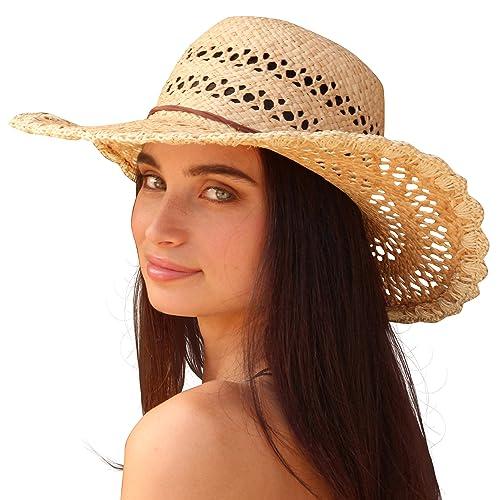 Palms & Sand St. Barts delle donne del cappello di paglia di Sun (Natural)